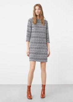 Robe coton jaspée