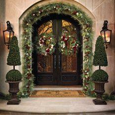 Christmas Plaid Greenery Collection #Holiday #Christmas #Home #Interior #Design #Decor ༺༺  ❤ ℭƘ ༻༻