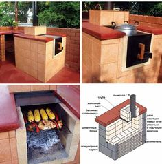DIY All In One: Outdoor Smoker, Stove, Oven, Grill - Find Fun Art Projects to Do at Home and Arts and Crafts Ideas Grill Outdoor, Outdoor Cooking, Outdoor Kitchens, Backyard Projects, Outdoor Projects, Cool Art Projects, Home Projects, Bbq Grill, Grill Oven