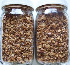 Granola...super good..added plain almonds & pecans (food processed) and craisins...def a keeper!