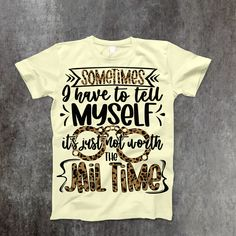 Jail Time T-Shirt - Large / Cream