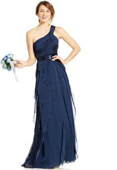 Adrianna Papell One-Shoulder Tiered Chiffon Gown  https://api.shopstyle.com/action/apiVisitRetailer?id=463092325&pid=uid2500-37484350-28