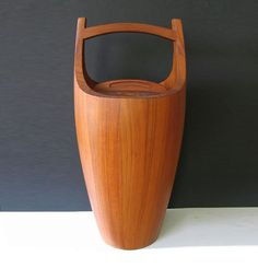 Dansk mid century teak danish modern ice bucket designed by Jens H Quistgaard. In my own permanent collection.