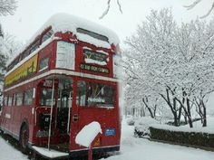 Lovely Double Decker in front of hotel