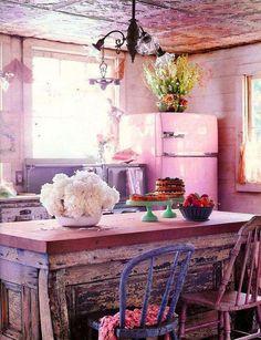 Retro Pink Kitchen ♥