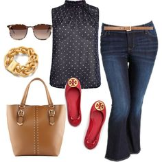 Polka Dots - Plus Size, created by alexawebb on Polyvore