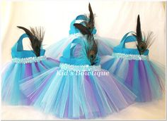 peacock party favor bags
