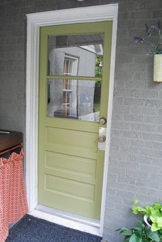Makes the gray seem friendly? House Exterior Paint Color - Glidden Spanish Olive