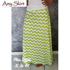 Greenstyle Women's Amy Maxi Skirt Extended Plus Sizes Sewing Pattern -