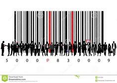 Illustration about Vector illustration of bar code and business people. Illustration of illustrated, clip, code - 9151023 Barcode Art, Barcode Design, Logo Design, Graphic Design, Bb Logo, Intj, Red Stripes, Geometry, Spaghetti