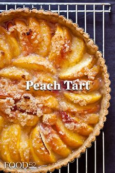 Peach Tart Recipe on So many peaches, so little time. Best Dessert Recipes, Fun Desserts, Delicious Desserts, Sweet Pie, Sweet Tarts, Peach Tart Recipes, Food Porn, Food 52, Cheesecakes