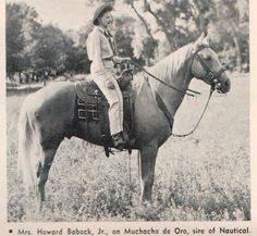 Muchacho De Oro. This photo appeared in the Oct. 1964 issue of Western Horseman magazine.