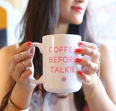 Coffee before talkie!