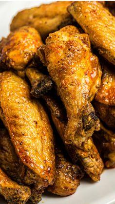 Air Fryer Recipes Keto, Air Fryer Dinner Recipes, Healthy Dinner Recipes, Healthy Dinners, Dessert Recipes, Cooking Recipes, Air Fryer Chicken Wings, Baked Chicken Wings, Fried Chicken Legs