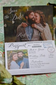 Passport Save the Date design by The Rustic Berry  https://www.etsy.com/listing/277315218/travel-themed-vintage-passport-style?ref=featured_listings_row