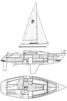 Dolphin (van de Stadt) drawing on sailboatdata.com