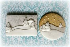 Winter landscape cookies