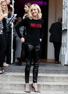 Fearne Cotton wears 'Meow' jumper to unveil new fashion line - Celebrity Fashion Trends