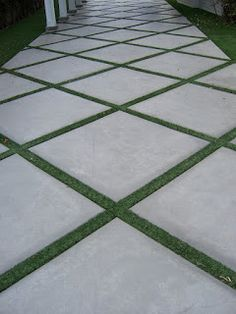 The 2 Minute Gardener: Photo - Concrete Pathway Accented with Field Turf