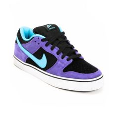 Nike Dunk Low LR Purple & Chlorine Skate Shoe $60