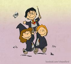 Harry Potter Peanuts by Che-Crawford.deviantart.com on @DeviantArt