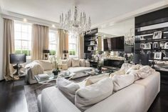 Inside Alexander McQueen's former London penthouse : The home of British designer Alexander McQueen — and the name behind The Duchess of Cambridge's wedding dress — is on the market, following a period of refurbishment.  Image credits: Wetherell