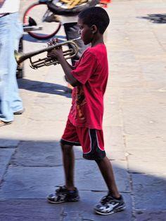 Street musician, Jackson Square