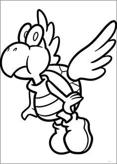 Mario Bross Tegninger til Farvelægning. Printbare Farvelægning for børn. Tegninger til udskriv og farve nº 33
