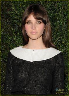 Rosie Huntington-Whiteley & Felicity Jones: Chanel Pre-Oscars Dinner 2013