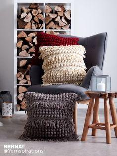 Tassel and Texture Crochet Pillow - Patterns | Yarnspirations