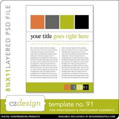 Cathy Zielske's Layered Template No. 091 - Digital Scrapbooking Templates
