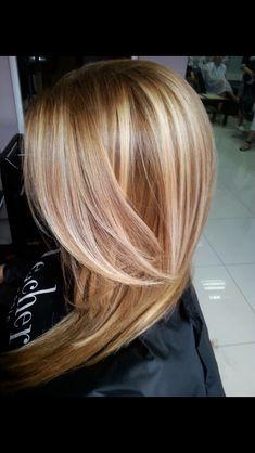 Warm highlights,blond ,Carmel
