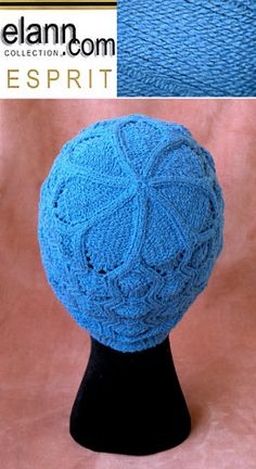 Wavy cable lace cap