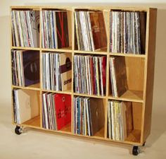 record storage on casters - this could be simple. Make it lower and longer?