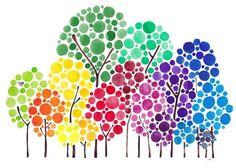 Albero arte personalizzata foresta famiglia di jellybeans su Etsy