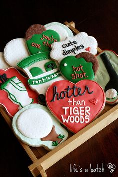 Valentine Golf Cookies