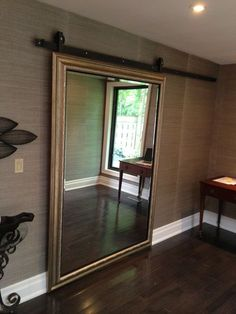 The Zen Door on the Sliding Barn Door Hardware. More You are in the right place about closet doors decoration Here we offer you the most beautiful pictures about the replacing closet door Mirror Closet Doors, House Design, House, Interior, Home, Interior Barn Doors, Door Installation, Closet Bedroom, New Homes