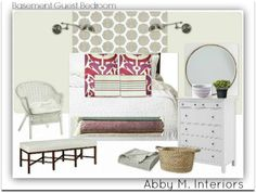 Abby M. Interiors: East Grand Rapids design plans: laundry, bathroom, & guest room