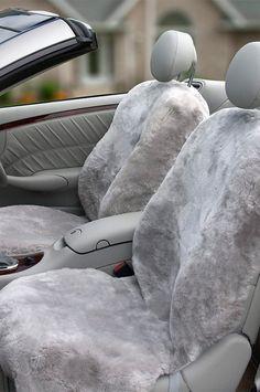 SEAT COVERS i TIGER 1 FAUX FUR FULL SET SEMI FIT A FIAT 500C CAR
