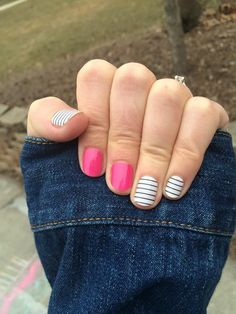 County Club and Haute Pink by Jamberry Nails http://laurennorris.jamberrynails.net/product/haute-pink-(tint)#.VTW8FyHBzGc #classymanicures #jamberrynails