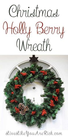 christmas holly berry wreath