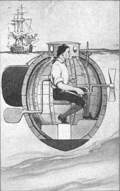 1776: David Bushnell creates the Turtle, the first military submarine