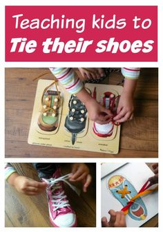 Teaching Kids to Tie their Shoes.