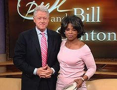 Bill Clinton and Oprah
