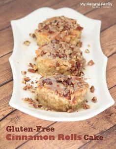 Gluten Free Cinnamon Rolls Cake {Quinoa Flour Cake}