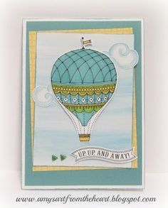 Amy's Art from the Heart, balloon wishes, shin han touch markers, watercolor, ctmh