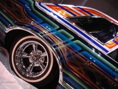 Chicano style painted car. Car art.