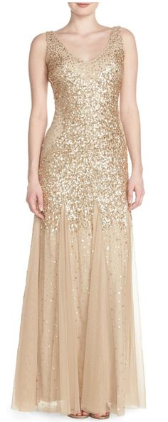 Glittery gold sparkle gown