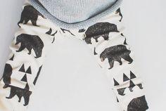 Organic baby leggings in geometric bears, baby leggings,  baby pants, toddler leggings, toddler pants