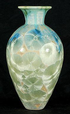 Hein Severijns porseleinen vaas met kristalglazuur